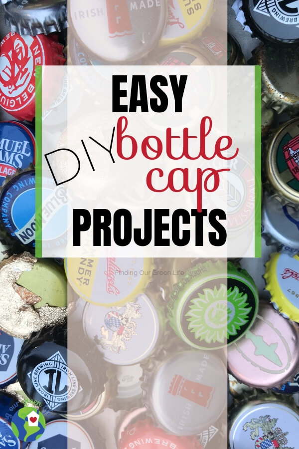 bottle caps with text overlay