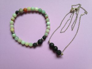 lava rock bracelet and lava rock necklace