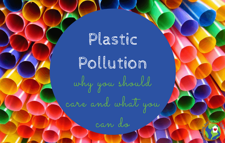 colorful plastic straws with blue circle image and blog title