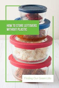 non-toxic food storage containers with text overlay