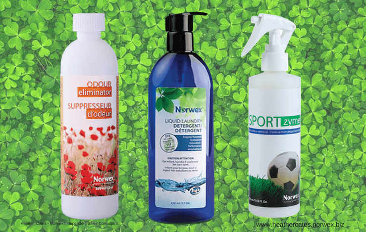 norwex odor eliminator, norwex liquid laundry detergent, norwex sportzyme