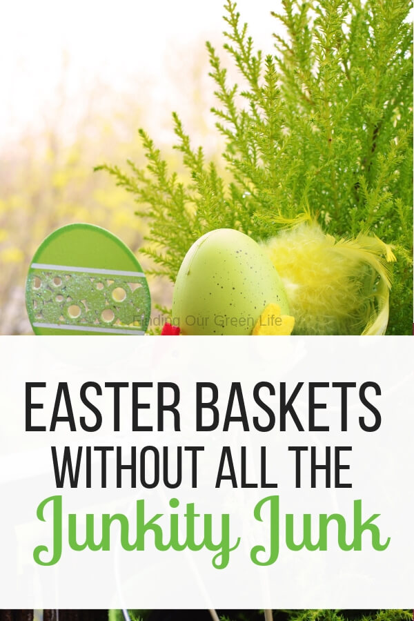 easter basket with text overlay