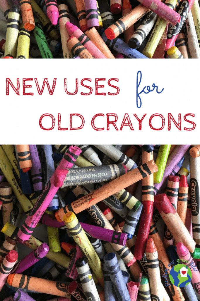 Pile of old broken crayons