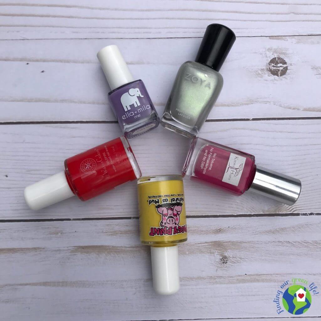 bottles of non-toxic nail polish