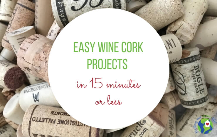 Pile of wine corks with text overlay