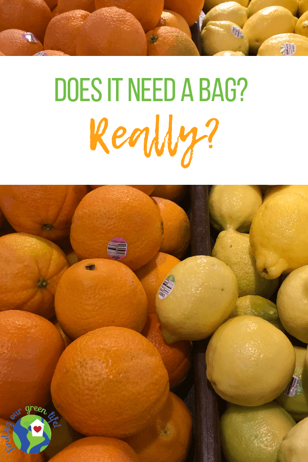 Things like oranges and lemons really don't need to be in plastic bags. Read on to find out the deal with other produce. #WasteReduction #RecyclePlasticBags #SkipTheBag #PlasticPollution