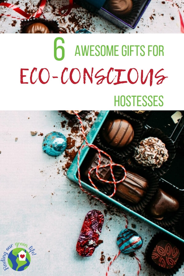 Heading to a party hosted by an environmentally conscious friend? Surprise her with one of these eco-friendly gifts, all under $50. #EcoFriendlyGifts #GiftsUnder$50 #HostessGifts #HolidayParty #FindingOurGreenLife