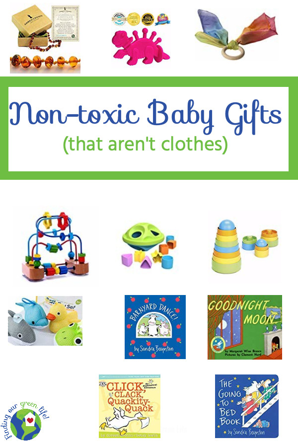 Perfect gifts for babies first holiday. Click through to learn more about these non-toxic, fun learning toys. #NonToxicBabyToys #FindingOurGreenLife #BabiesFirstChristmas #EcoFriendlyGiftsForBabies #NonToxicGiftsForToddlers