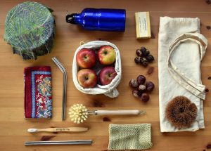 products in reusable packaging for zero waste living