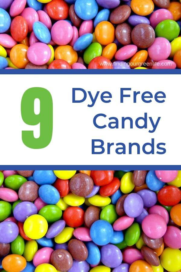 dye free candy with text overlay