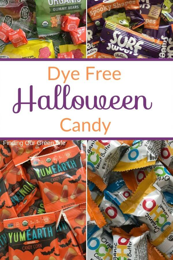 dye free halloween candy with text overlay