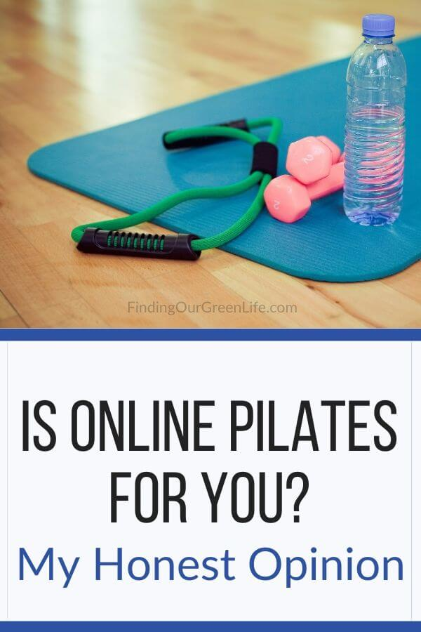 pilates mat, water, weights, online pilates class