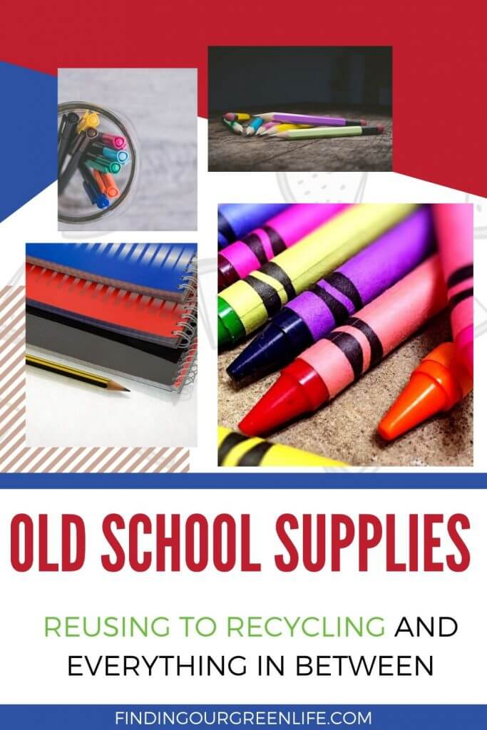 school supplies with text overlay