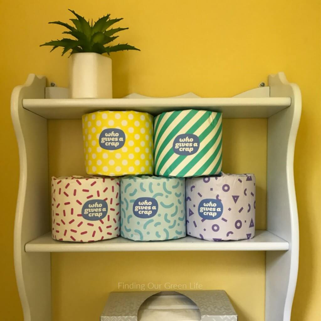 who gives a crap toilet paper rolls on shelves