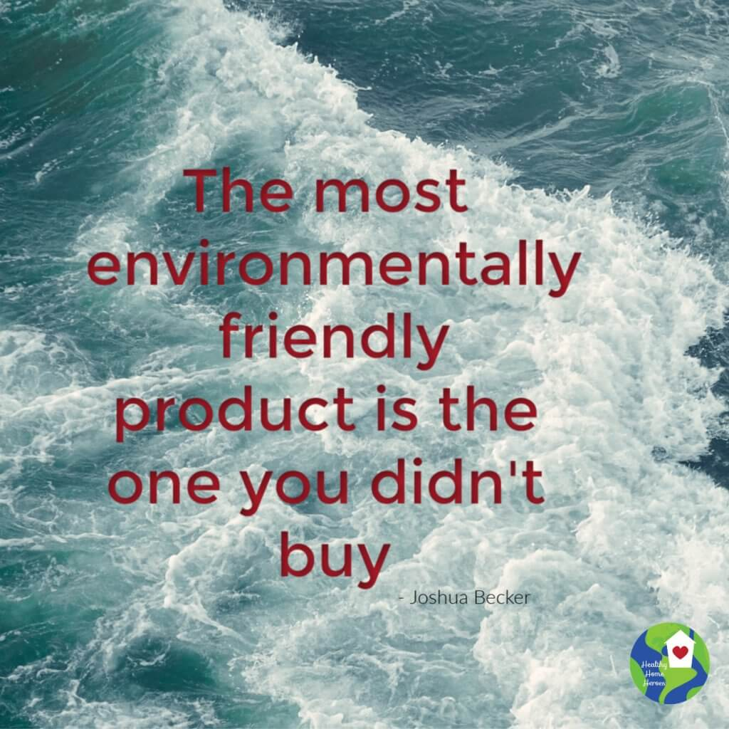 water with Environmental quote text
