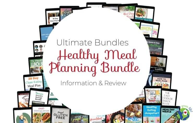 Ultimate Bundles Healthy Meal Planning Bundle products with text overlay