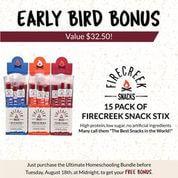 Firecreek Snacks Early Bird Bonus