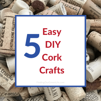 corks with easy diy cork crafts text overlay