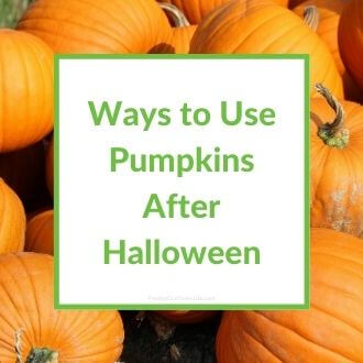 pumpkins with ways to use pumpkins after halloween text overlay