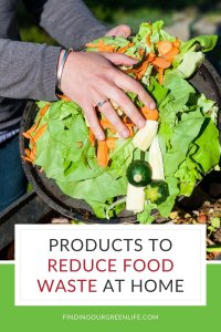 produce scraps with reduce food waste at home text overlay